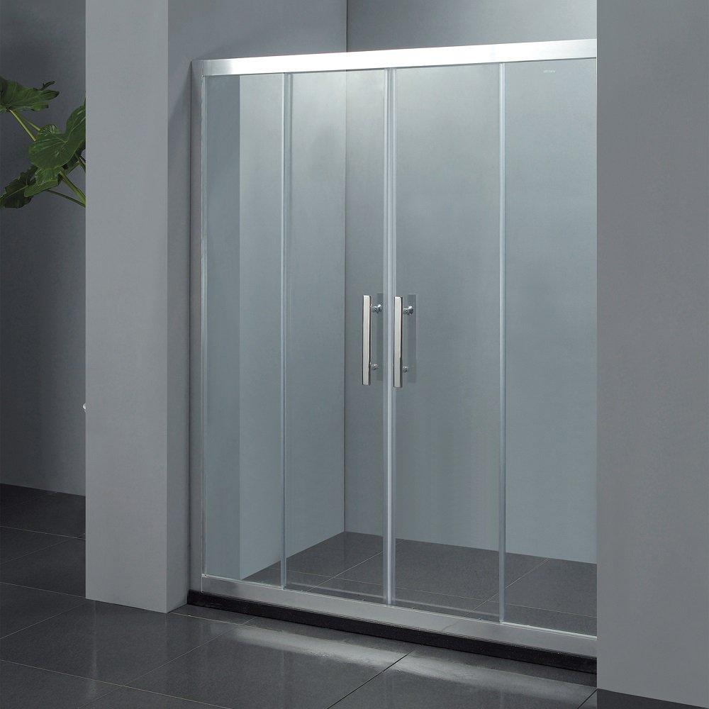 Porta doccia battente con due ante per nicchia mandorlo - Porta doccia 120 ...