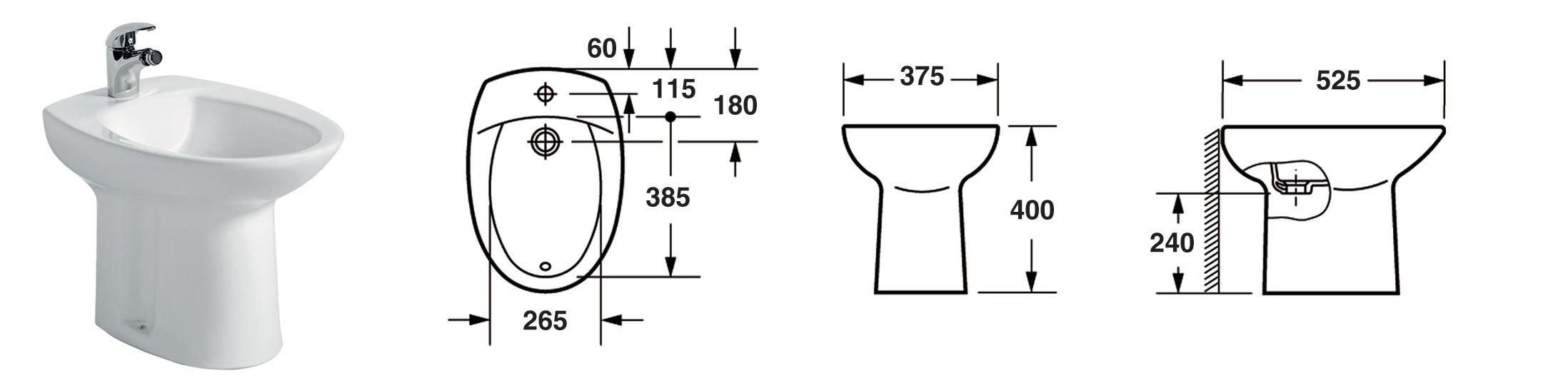 Bagno completo set sanitari in ceramica vaso coprivaso - Set sanitari bagno ...