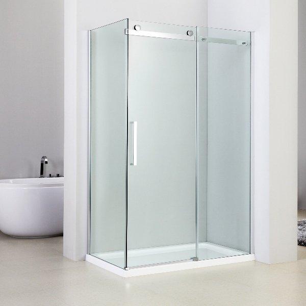 Box doccia angolare 70x140 con anta scorrevole vetro cristallo 8mm - Vetro doccia scorrevole ...