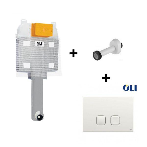 Cassetta WC da incasso Oli74 Plus con canotto e placchetta