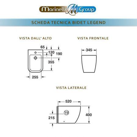 SCHEDA TECNICA LEGEND BIDET 800