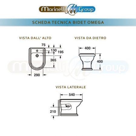 SCHEDA TECNICA OMEGA BIDET 800