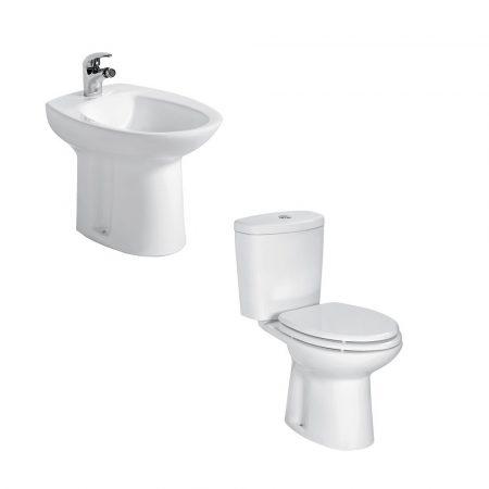 Sedile Bidet Per Wc.Bidet E Vaso Wc Monoblocco Sigma In Ceramica Completo Di Sedile