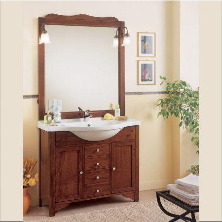 Mobile bagno classico con lavabo da 85