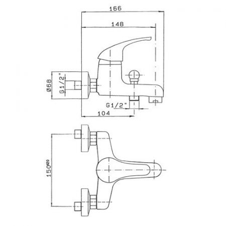 Miscelatore-monocomando-per-vasca-Ecoline-scheda