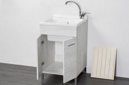 Lavatoio in legno rovere bianco