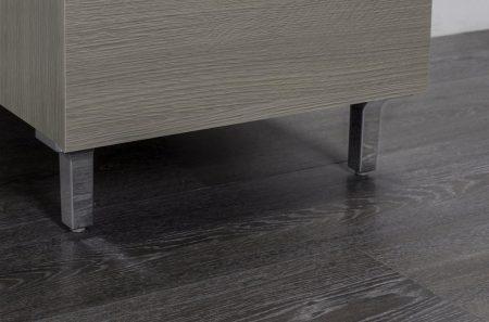 Lavatoio in legno rovere grigio da interno 45×50 1 anta con asse lavapanni lavanderia 2