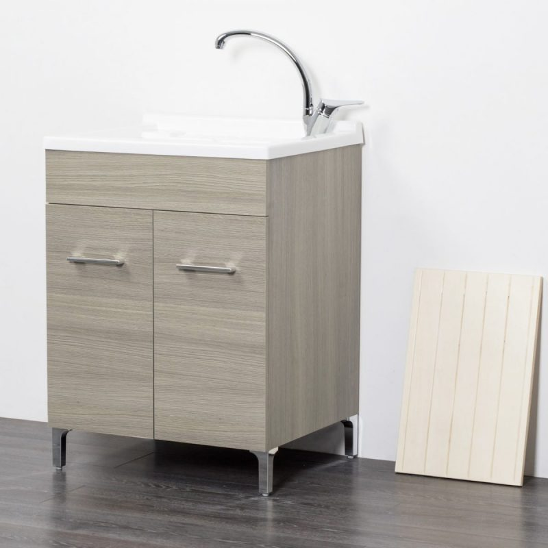 Lavatoio in legno rovere grigio
