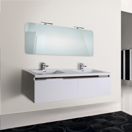 mobile bagno sospeso moderno 150 cm con lavabo e specchio azalea. Black Bedroom Furniture Sets. Home Design Ideas