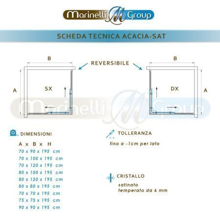 Scheda Tecnica Acacia SAT 800