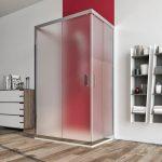 Box doccia 3 lati 6mm cristallo satinato – palma 01