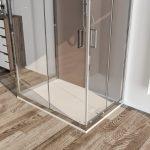 Box doccia 3 lati 6mm cristallo trasparente – palma 04