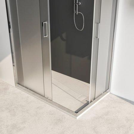 Box doccia angolare con due ante scorrevoli vetro cristallo temperato 6mm satinato Acacia 2019-2