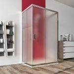 Box doccia 3 lati 6mm cristallo satinato – palma 01b