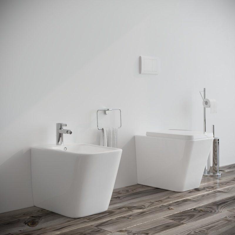Sanitari-bagno-in-ceramica-filo-muro-vaso-wc-bidet-coprivaso-softclose-modello Square-1