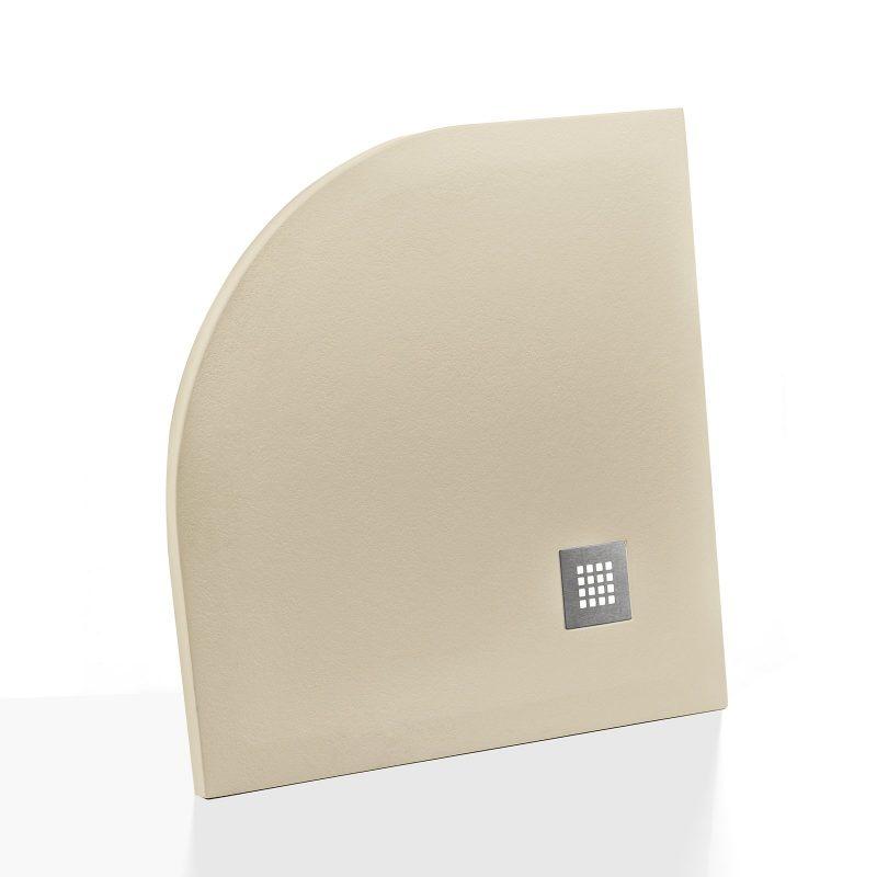 Piatto doccia effetto pietra semicircolare 90X90 Euclide beige