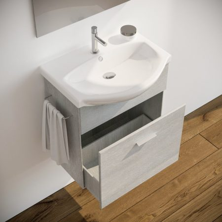 Mobile bagno moderno sospeso colore BIANCO 60 cm modello ginestra 2019-2