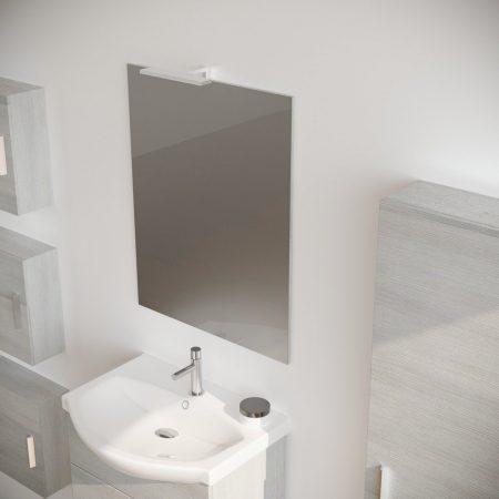 Mobile bagno moderno sospeso colore BIANCO 60 cm modello ginestra 2019-4