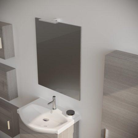 Mobile bagno moderno sospeso colore GRIGIO 60 cm modello ginestra 2019-3