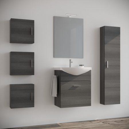 Bagni Moderni Piccole Dimensioni.Composizione Mobile Bagno Sospeso Moderno Erika 80 Cm