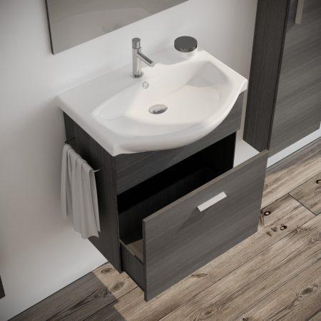 Mobile bagno moderno sospeso colore SCURO 60 cm modello ginestra 2019-2