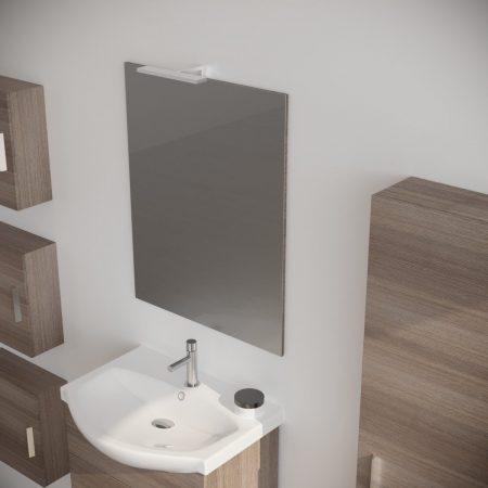 Mobile bagno moderno sospeso colore fumo 60 cm modello ginestra 2019-2