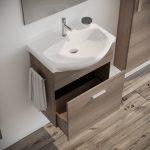 Mobile bagno moderno sospeso colore fumo 60 cm modello ginestra 2019-5