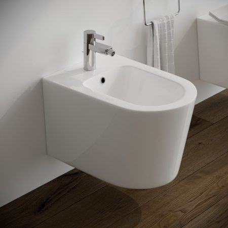 Sanitari-bagno-sospesi-in-ceramica-filo-muro-bidet-modello surf