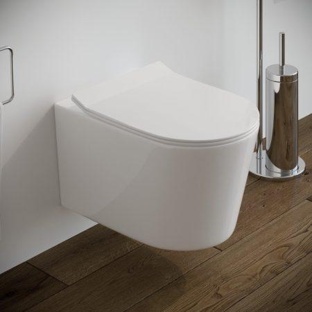 Sanitari-bagno-sospesi-in-ceramica-filo-muro-vaso-wc-coprivaso-softclose-modello surf
