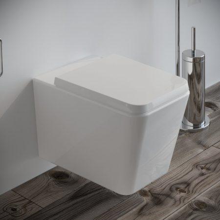 Sanitari-bagno-sospesi-in-ceramica-filo-muro-vaso-wc-coprivaso-softclose-modello wave