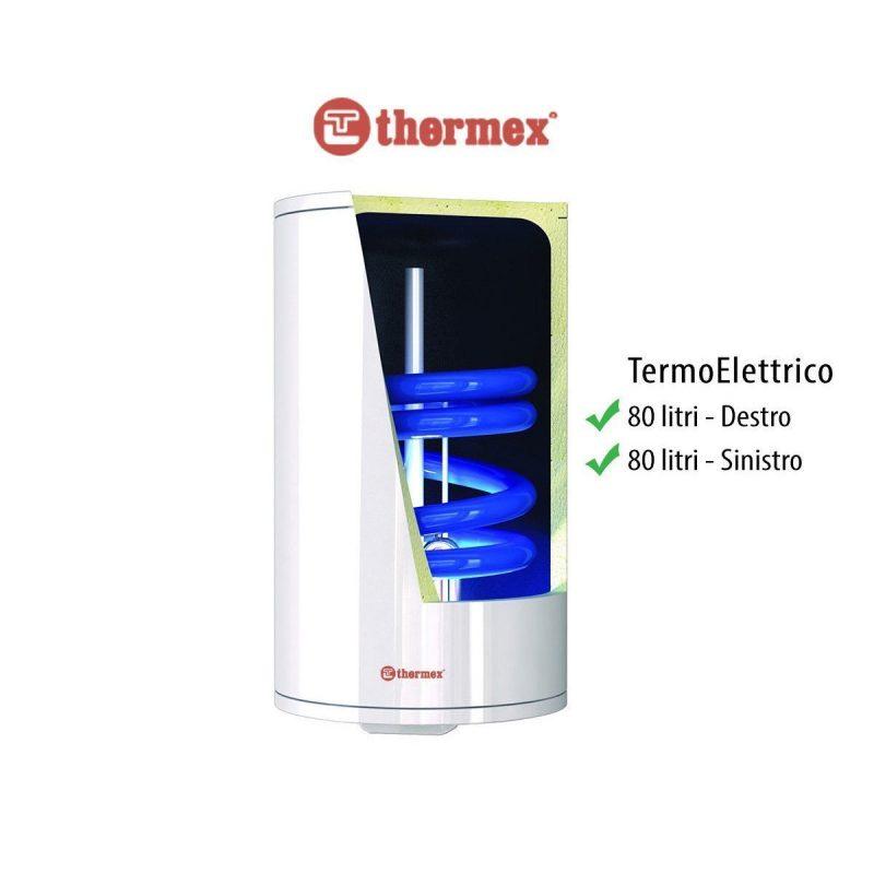 Scaldabagno termoelettrico scalda acqua boiler scaldino lt 80 litri verticale SX