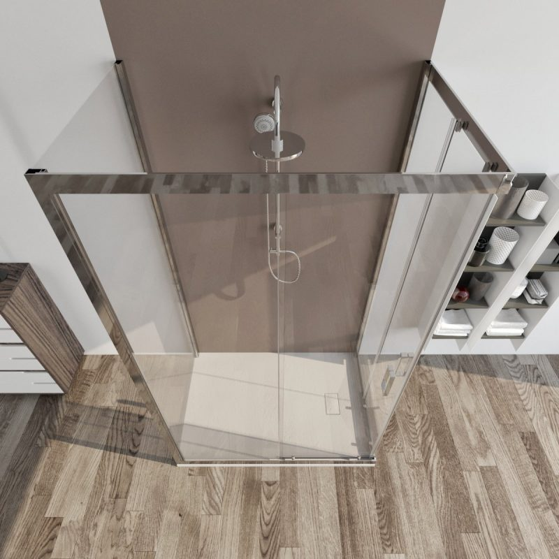 Box doccia 3 lati 80X80X80 trasparente scorrevole Palma