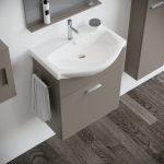Mobile bagno moderno sospeso 60 modello papavero tortora 2020-2