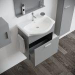 Mobile bagno moderno sospeso 60 modello papavero grigio 2020-3