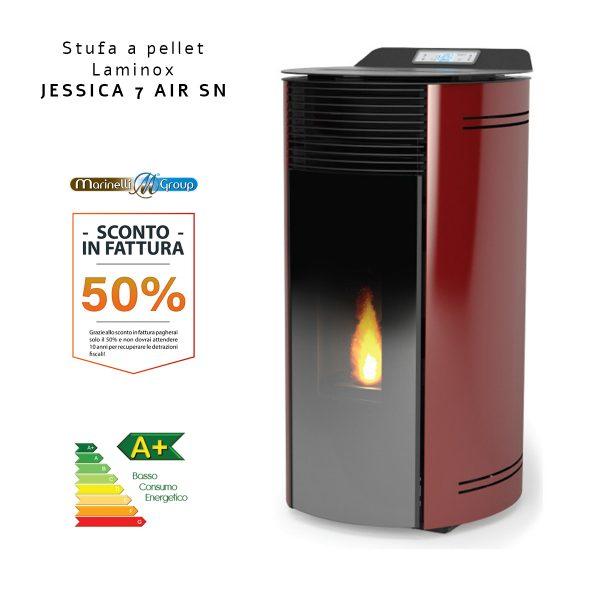 Stufa A Pellet Laminox Jessica 7 Air SN ROSSA