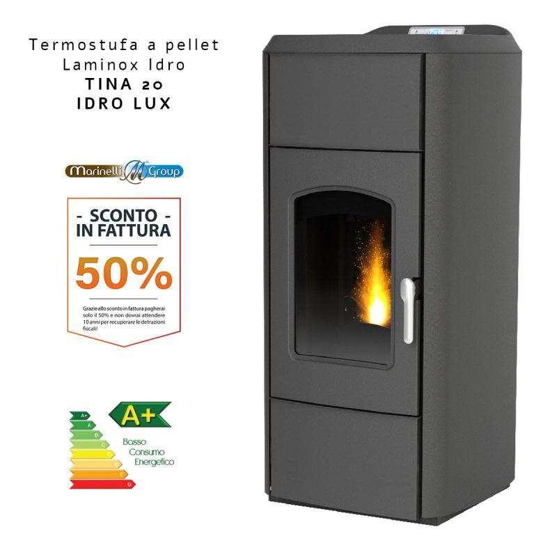 Termostufa A Pellet Laminox Idro Tina Idro Lux
